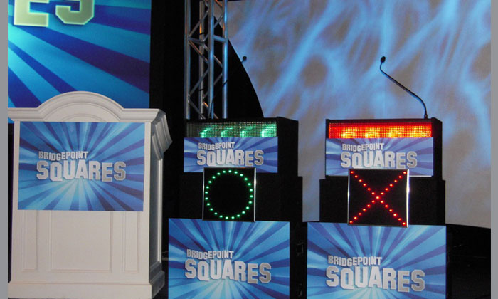 Celebrity Tic Tac Toe Contestant Podiums