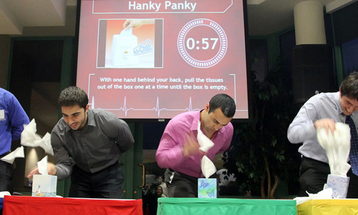 Teams compete in In It To Win It-Hanky Panky