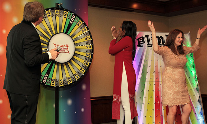 Spin The Big Wheel for prizes