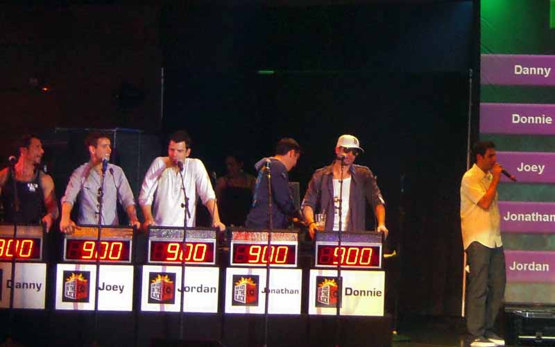 New Kids on the Block play The Challenge on Carnival Cruise Ship
