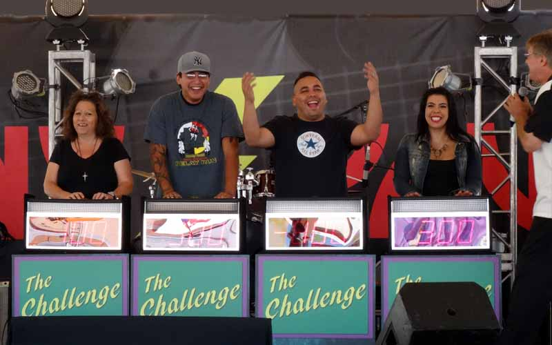 fun with The Challenge game show at the fair