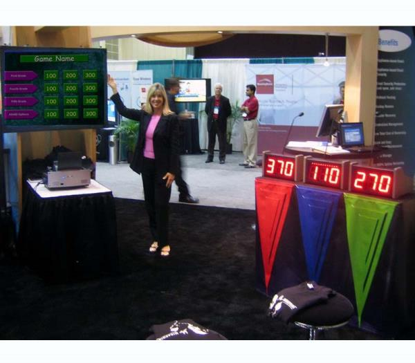 Trade Show booth traffic builder game show in Orlando Florida