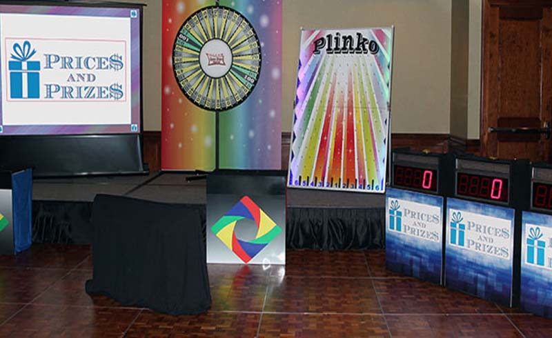 Prices and Prizes-fun interactive trade show booth pricing game show