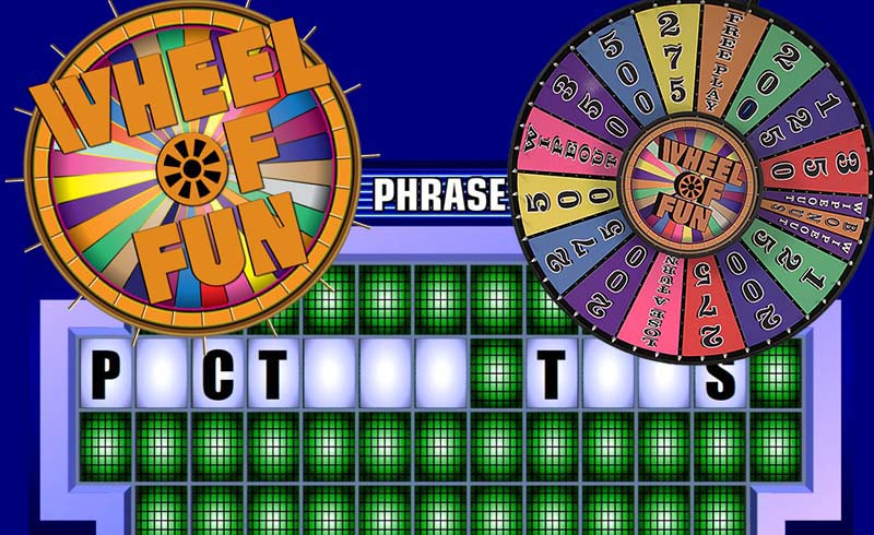 Wheel Of Fun-Fun Fortune Game Show in booth at trade show