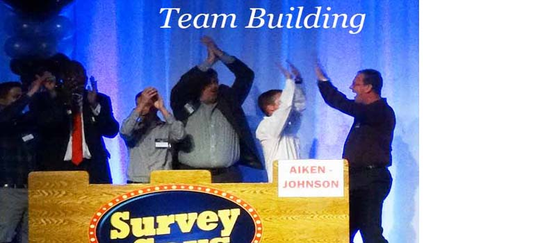 Fun team building game shows activities.
