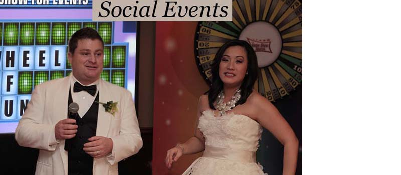 Interactive special/social event game shows