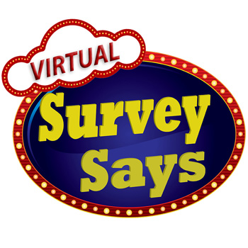 virtual survey says game show logo